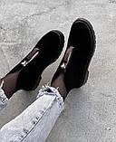 Женские демисезонные ботинки на молнии с камнями, фото 4