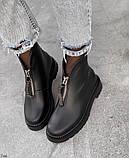 Женские демисезонные ботинки на молнии с камнями, фото 9