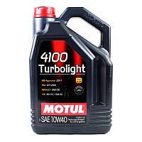Моторное масло MOTUL 4100 Turbolight 10W-40 5L (387606)