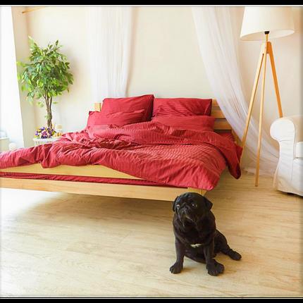 Постельное белье Страйп-сатин Красный (Турция) ТМ Царский дом  (Двуспальный), фото 2