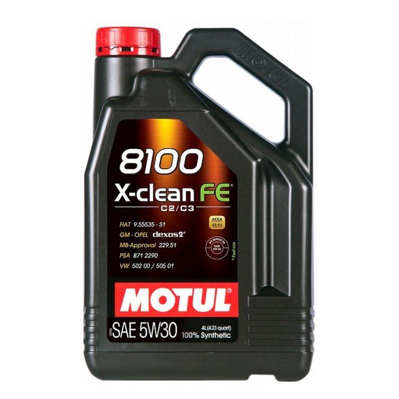 Моторное масло MOTUL 8100 X-clean FE 5W-30 4L (814107)