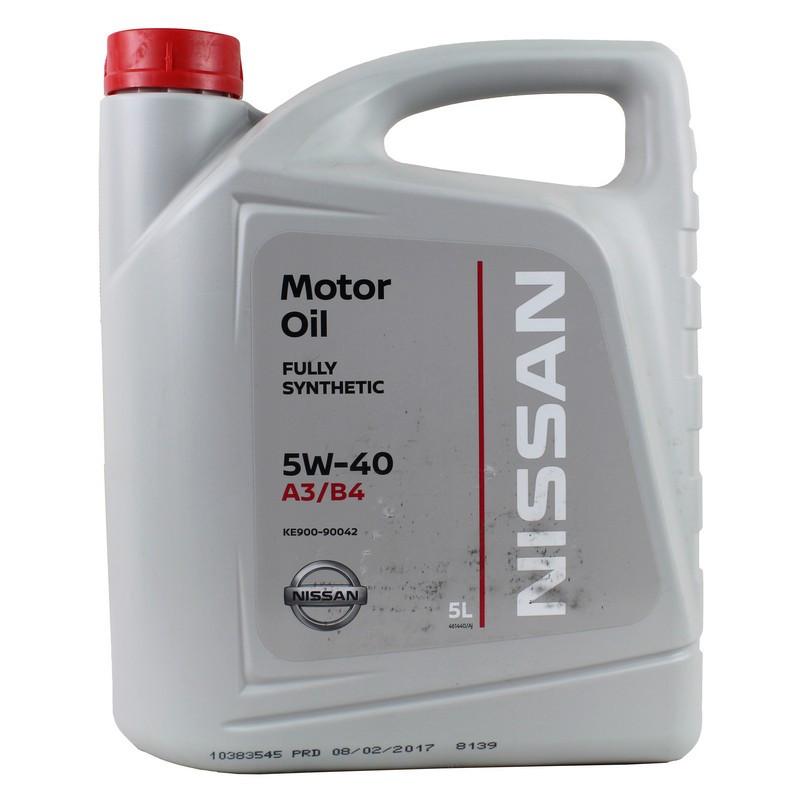 Моторное масло NISSAN 5W-40 5L (KE900-90042)