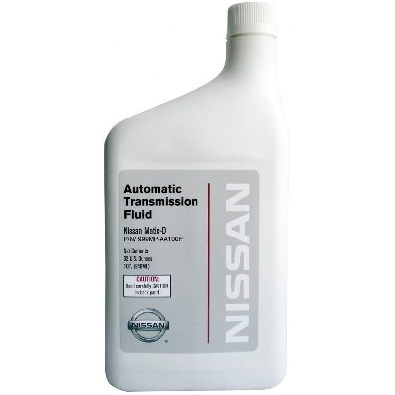 Трансмиссионное масло Nissan ATF MATIC-D для АКПП 0.946 литра 999MP-AA100-P