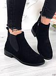 Женские демисезонные ботинки Челси на резинках, фото 4