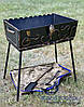 Мангал кованный раскладной чемодан (кочерга и совок), на 10 шампуров
