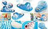 Массажный тапочек Easy Feet Щётка-массажёр для ног Голубой   Щётка для ног, фото 6