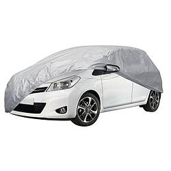 Тент на автомобиль хэтчбек Vitol HC11106 размер XL серый полиэстер 406х165х119 (HC11106 XL)