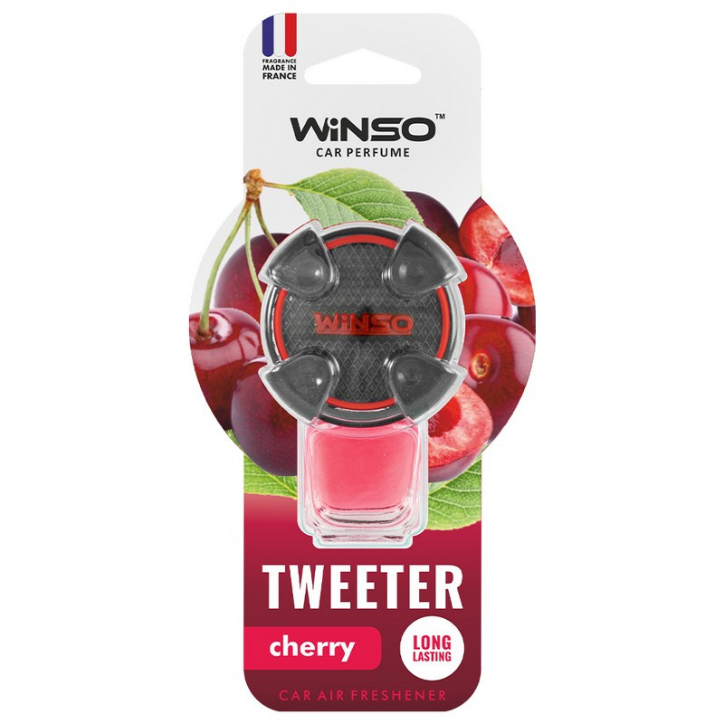 Ароматизатор в машину пахучка для авто на дефлектор 8мл Cherry WINSO Tweeter (530820)