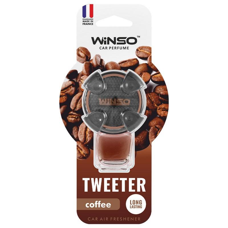 Ароматизатор в машину пахучка для авто на дефлектор 8мл Coffee WINSO Tweeter (530870)