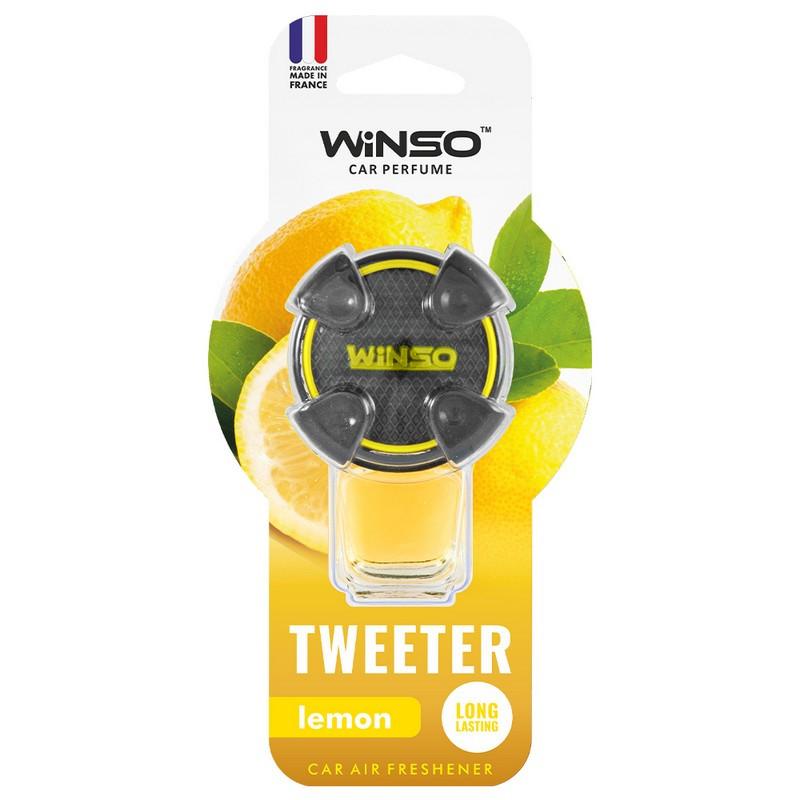Ароматизатор в машину пахучка для авто на дефлектор 8мл Lemon WINSO Tweeter (530930)
