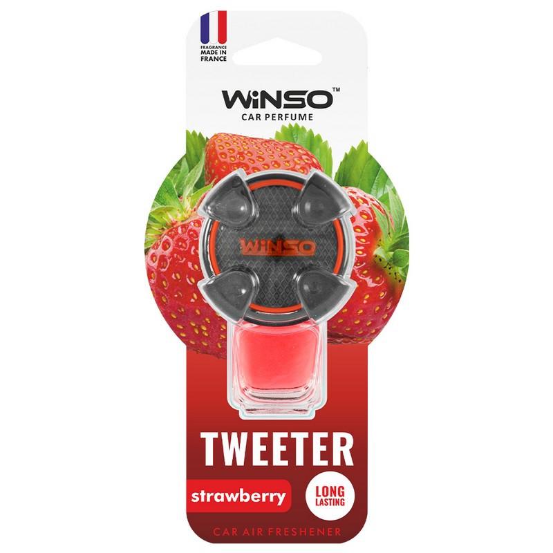 Ароматизатор в машину пахучка для авто на дефлектор 8мл Strawberry WINSO Tweeter (530830)