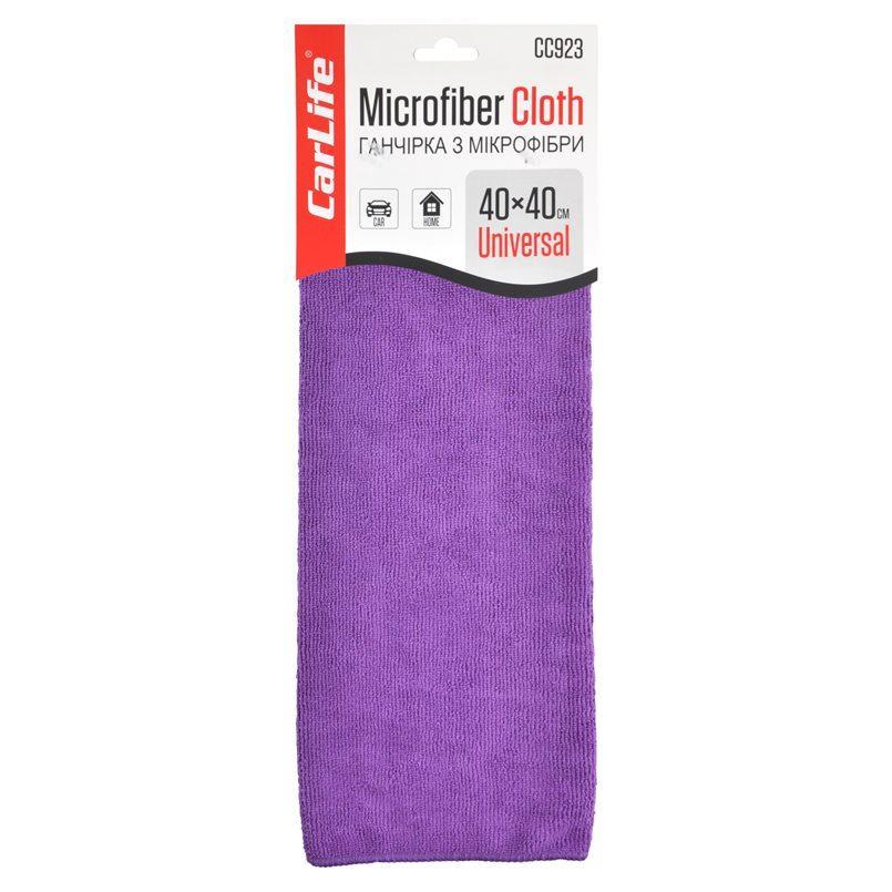 Тряпка из микрофибры 40x40 см фиолетовая CARLIFE (CC923)