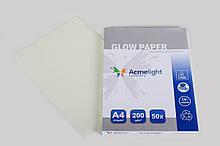 Світний фотопапір AcmeLight GLow Paper 50 аркушів А4 блакитне світіння