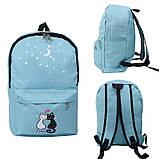 Міський рюкзак для дівчаток 4 предмета Котики блакитний 154082, фото 3
