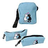 Міський рюкзак для дівчаток 4 предмета Котики блакитний 154082, фото 5