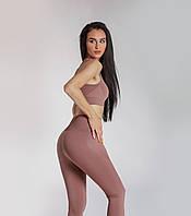Спортивный костюм женский для фитнеса 2в1 Леггинсы Лосины для спорта Спортивный топ Одежда для фитнеса