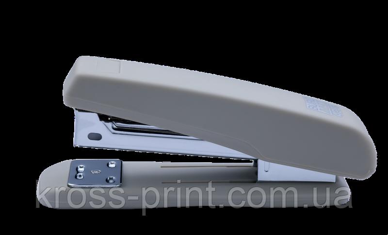Степлер №24/6 26/6 20л 65мм Rubber Touch BM.4205-09 серый 12/48шт/уп