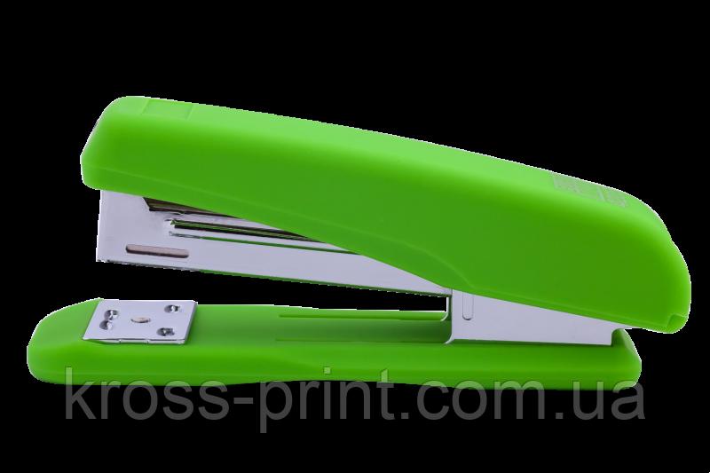 Степлер №24/6 26/6 20л 65мм Rubber Touch BM.4205-15 зеленый 12/48шт/уп