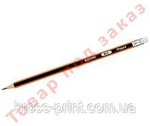 Олівець графітовий BLACK PEPS, B, з гумкою MP.851724