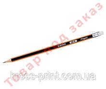 Олівець графітовий BLACK PEPS, 2B, з гумкою MP.851722
