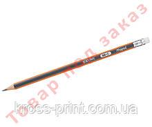 Олівець графітовий BLACK PEPS, HB з гумкою MP.851721