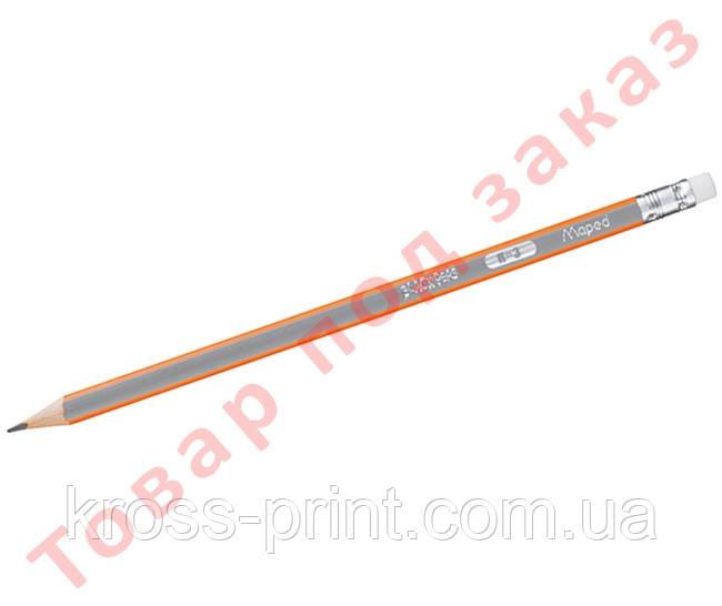 Карандаш графитовый BLACK PEPS, H, с ластиком MP.851725