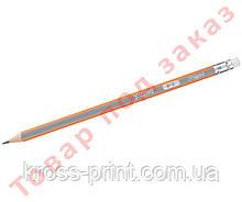 Олівець графітовий BLACK PEPS, H, з гумкою MP.851725