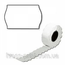 Етикет-стрічка 26*12мм /1000/фігурна біла 125рул/ящ виробництво Литва