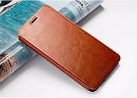 Кожаный чехол книжка MOFI для Lenovo Vibe P1 коричневый