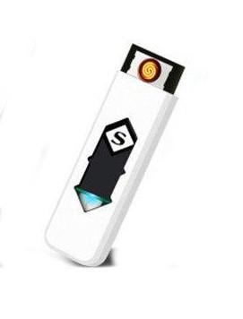Електрична спіральна USB запальничка Superman 158 Білий