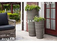 Комплект цветочных горшков, кашпо из ротанга Thomas 107 см. 2 шт., фото 1