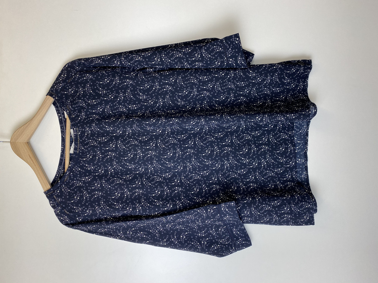 Блуза женская Maison Scotch цвет темно-синий- белый размер S XL XS арт 10216716-FWLM-D53