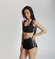 Спортивный костюм женский для фитнеса 2в1 Шортики для спорта Спортивный топ Одежда для фитнеса