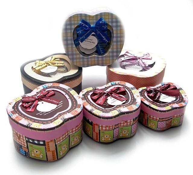Набор подарочных коробок в форме яблока, подарочный комплект из 3-х штук