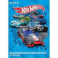 "Цветной картон двухсторонний ""Kite (HotWheels)"""