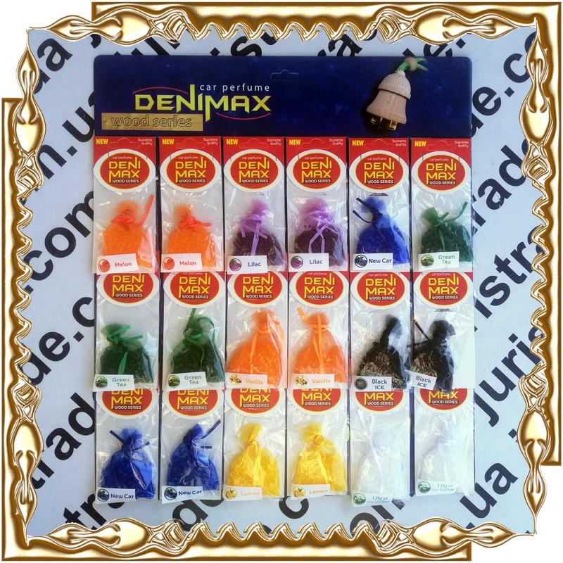 Автомобільний освіжувач (ароматизатор) Denimax Car Perfume Wood Series 18 шт./уп. (в мішечку)