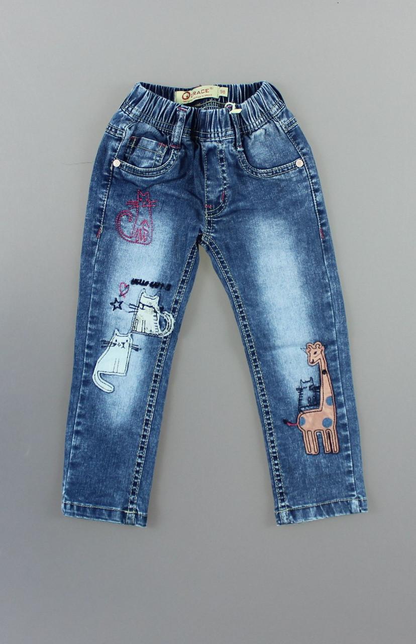 {есть:98,104} Джинсовые брюки для девочек Grace, Артикул: G70767 [98]