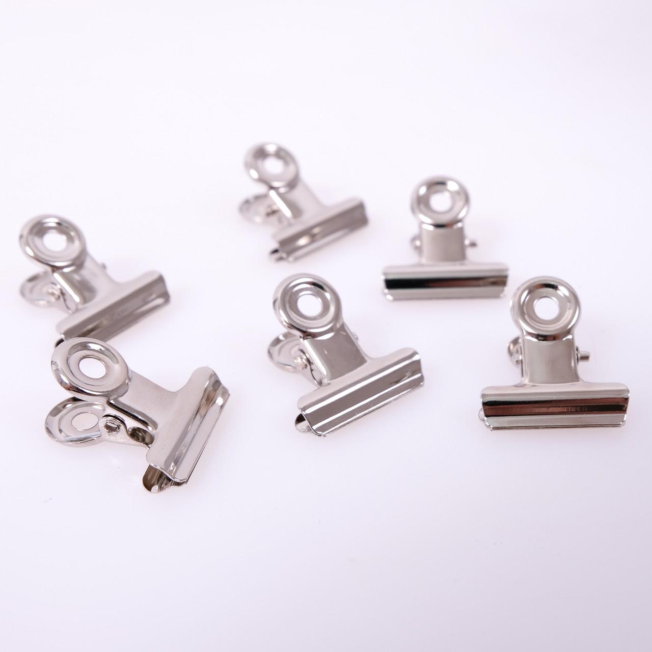 Затискач (прищепка) для нарощування нігтів метал, 10 шт