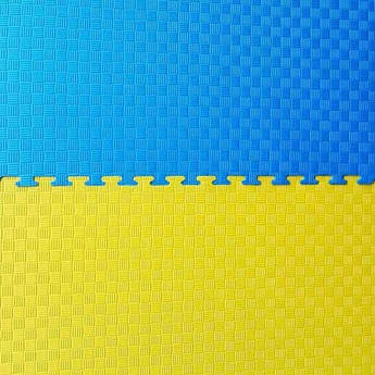 """Мат""""ластівчин хвіст"""" 1мх1мх4 см, жовто-синій."""
