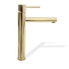 Смеситель для раковины (умывальника) REA TESS GOLD золотой высокий, фото 2