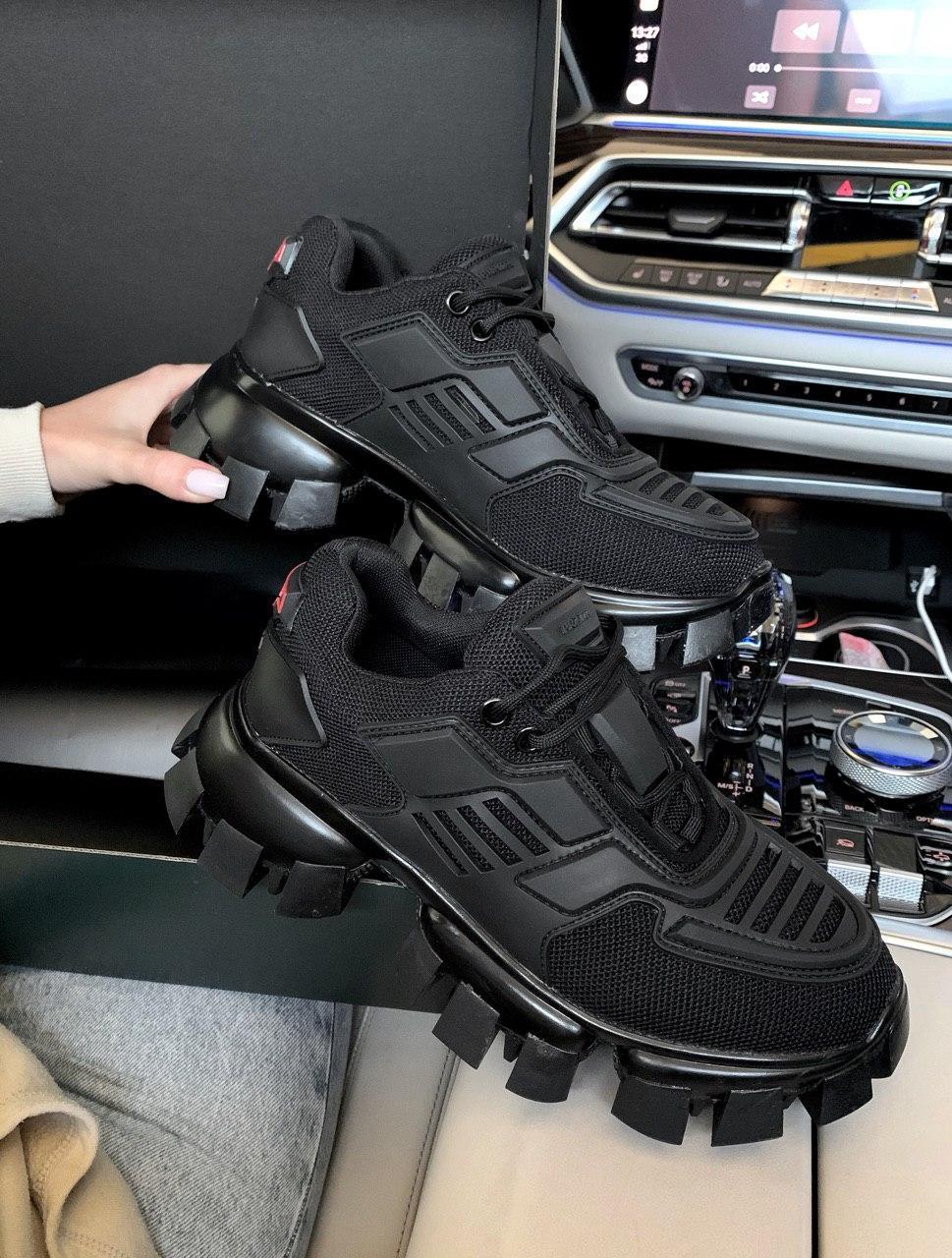Женские кроссовки Prada CoudBust (black), женские кроссовки Прада