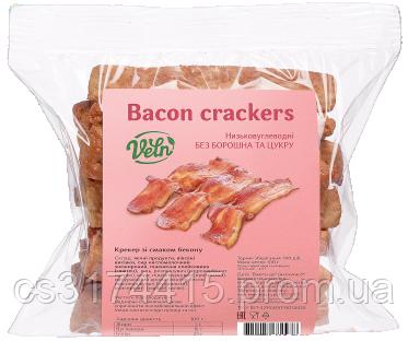 Крекери низькокалорійні VELN™ зі смаком Бекону (100 грам)