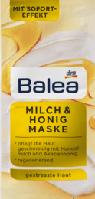 Balea Maske Milch & Honig 2 x 8 ml Питательная молочно-медовая маска для лица 16 мл