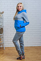 Теплый спортивный костюм женский светло-серый, фото 1