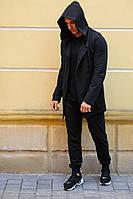 Мантия мужская черная накидка/кардиган, турецкая ткань, мягкая и приятная к телу