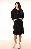 Платье-Худи Quest Wear чёрное новая тенденция в мире спортивной одежды