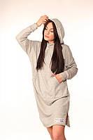 Платье-Худи Quest Wear серое новая тенденция в мире спортивной одежды