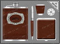 Подарочный набор Moongrass 5 предметов DJH0769 Фляга+ручка+стопка+портсигар+лейка Стильный Набор подарок мужу