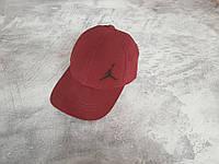 Стильная кепка бейсболка унисекс Jordan бордовая
