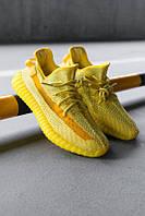 """Жіночі Кросівки Adidas Yeezy 350 V2 Yellow Reflective"""" - """"Жовті Помаранчеві Рефлектив"""" (Репліка ААА+), фото 1"""